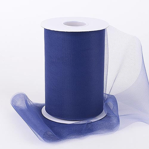 Navy Blue 6 Inch Tulle Fabric Roll 100 Yards