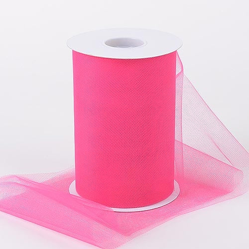 Fuchsia 6 Inch Tulle Fabric Roll 100 Yards