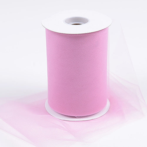 Rose Mauve 6 Inch Tulle Fabric Roll 100 Yards