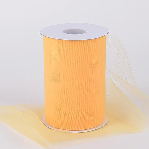 Light Gold 6 Inch Tulle Fabric Roll 100 Yards