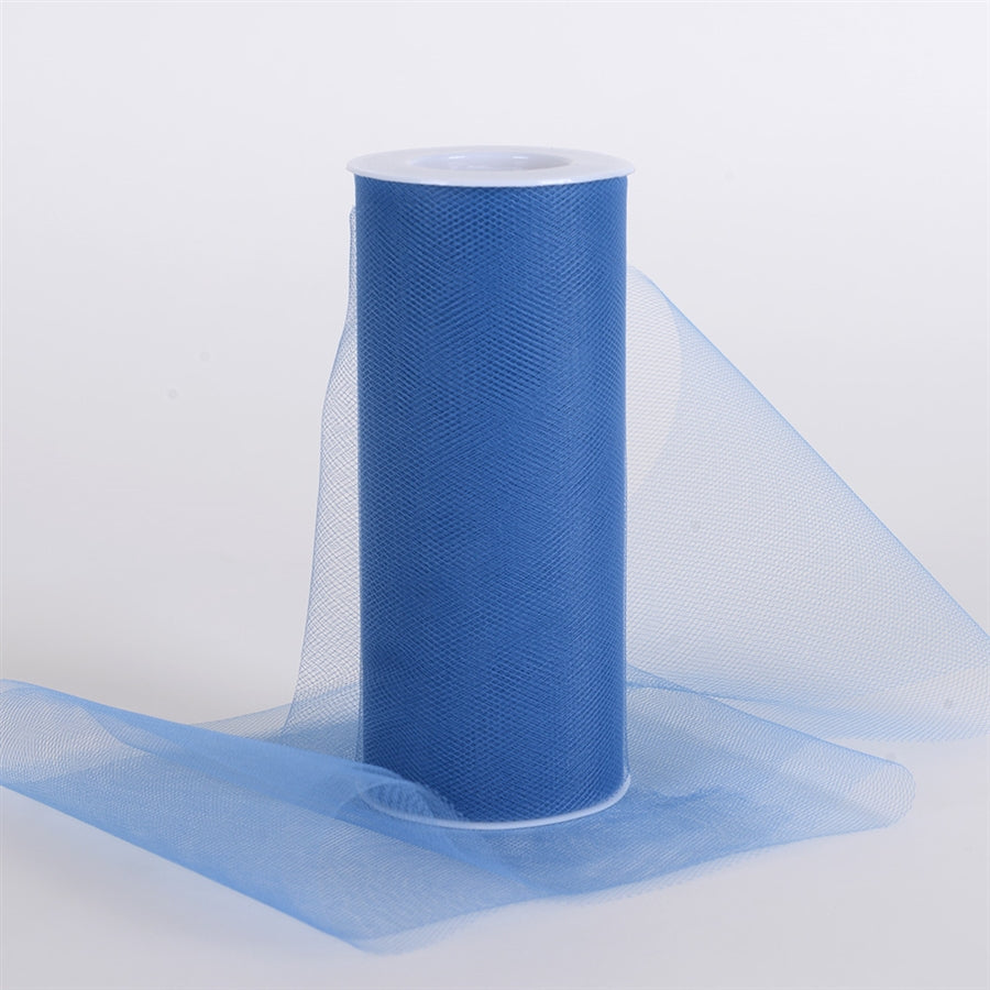 Periwinkle Blue 6 Inch Tulle Fabric Roll 25 Yards