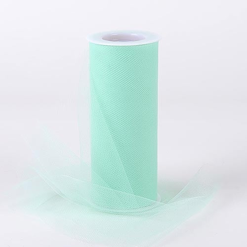 Mint Green 6 Inch Tulle Fabric Roll 25 Yards
