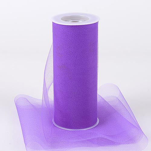 Purple 6 Inch Tulle Fabric Roll 25 Yards