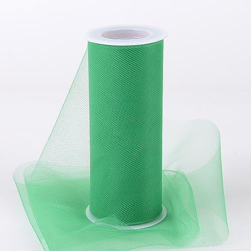 Emerald 6 Inch Tulle Fabric Roll 25 Yards