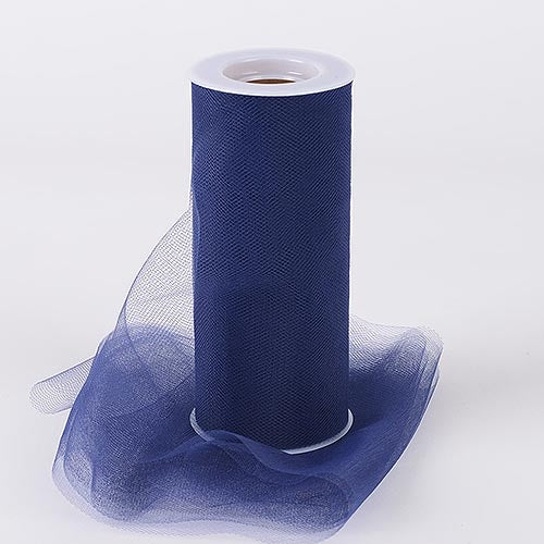 Navy Blue 6 Inch Tulle Fabric Roll 25 Yards