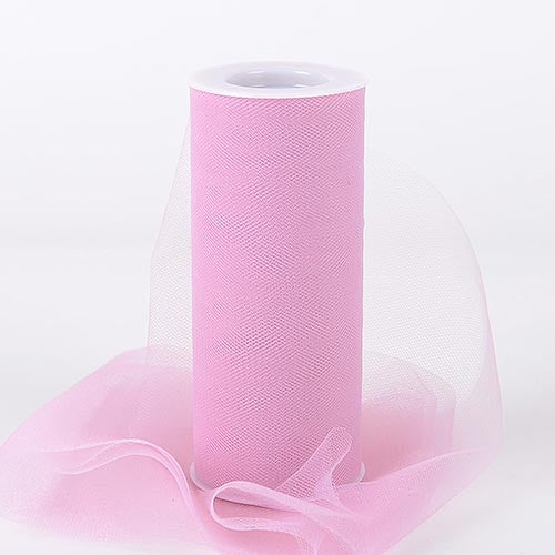 Rose Mauve 6 Inch Tulle Fabric Roll 25 Yards