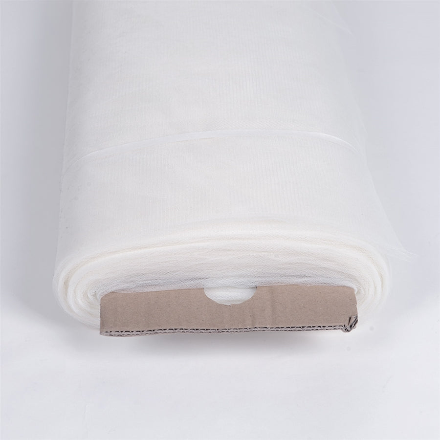 White 108 Inch Tulle Fabric Bolt 50 Yards