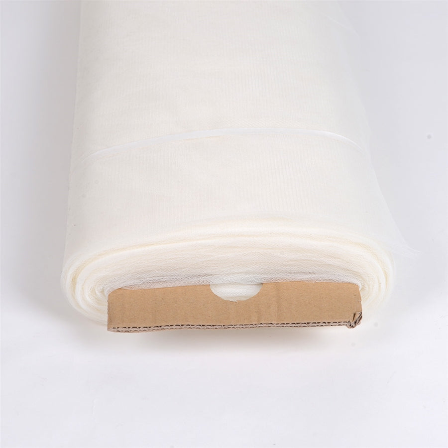 Ivory 108 Inch Tulle Fabric Bolt 50 Yards