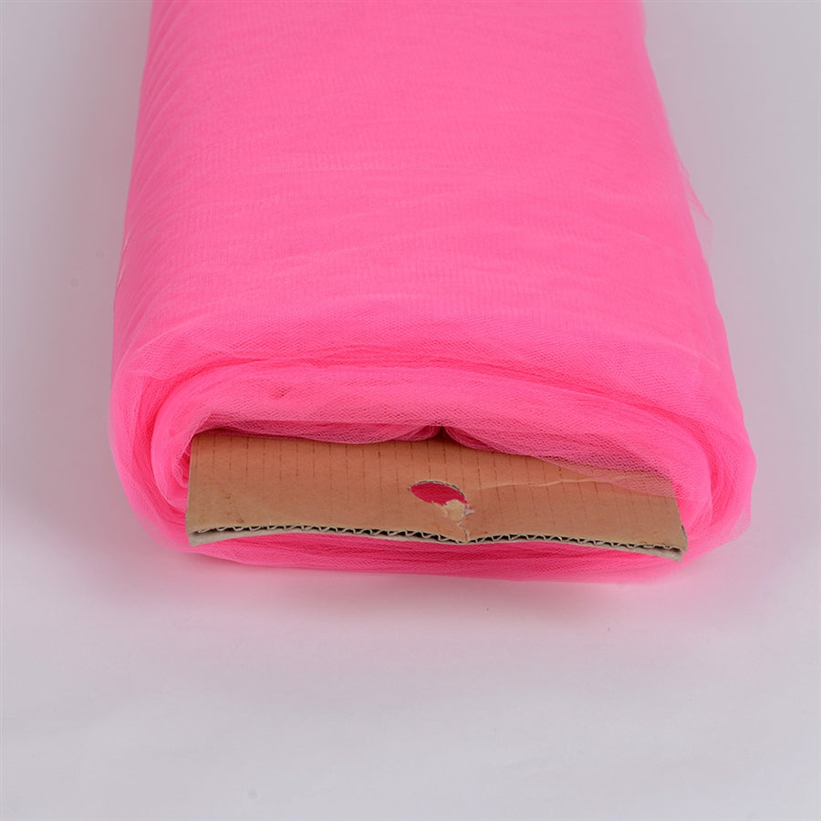 Shocking Pink 108 Inch Tulle Fabric Bolt 50 Yards