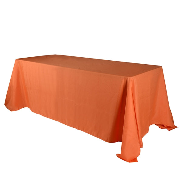 Orange 90 x 156 Inch Polyester Rectangle Tablecloths