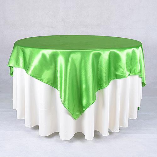 Apple Green - 90 x 90 Square Satin Table Overlays