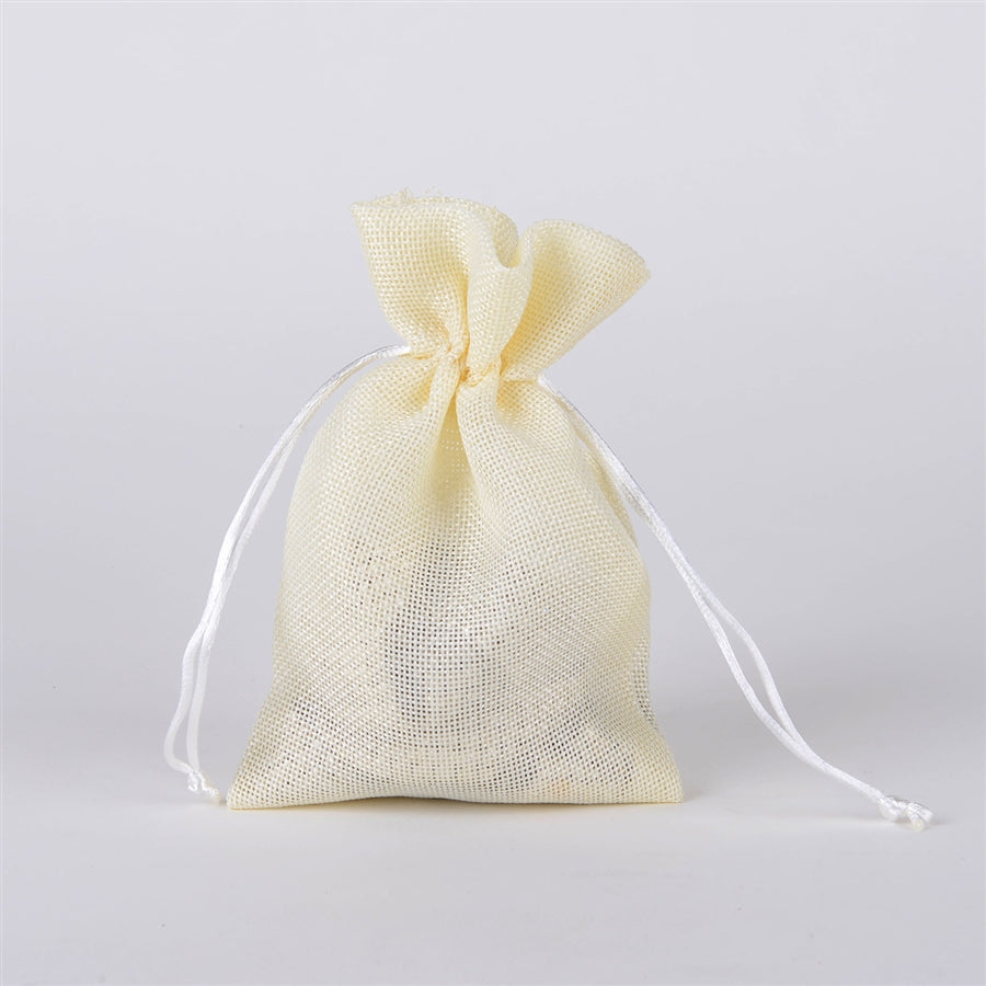 Ivory - 5 inch x 7 inch Burlap Bags