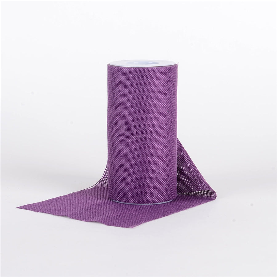 Purple - 6 inch Faux Burlap Roll