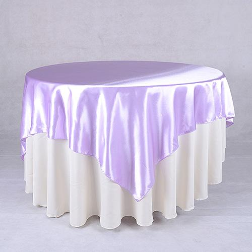 Lavender - 90 x 90 Square Satin Table Overlays