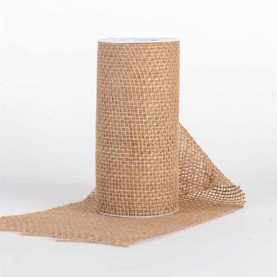 Natural - Net Burlap Roll ( 6 inch x 5 yards )