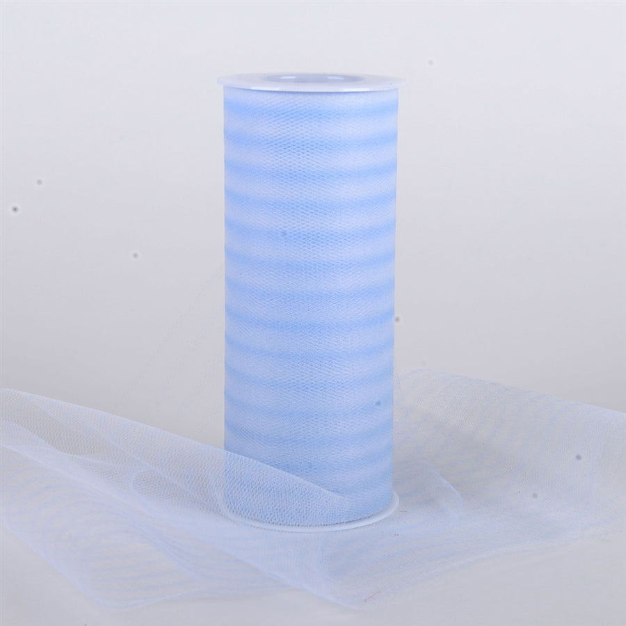6 Inch Multi Striped Tulle -  Light Blue