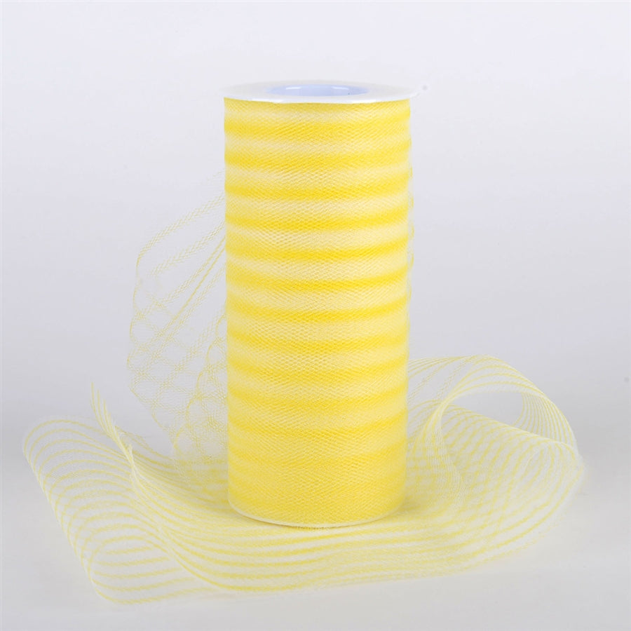 6 Inch Multi Striped Tulle -  Yellow