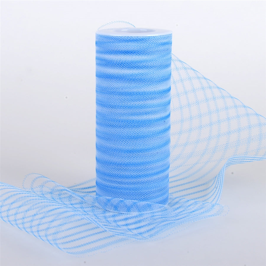 6 Inch Multi Striped Tulle -  Turquoise