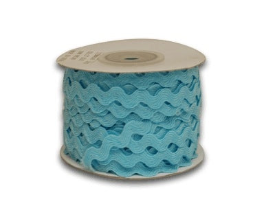 Light Blue 10 mm Ric Rac Trim 25 Yards