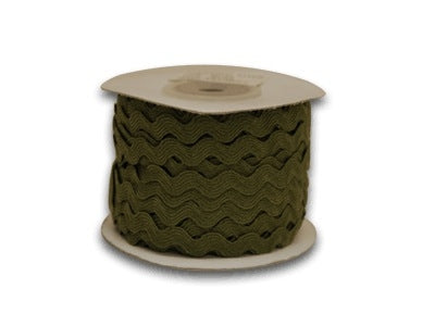 Moss 10 mm Ric Rac Trim 25 Yards