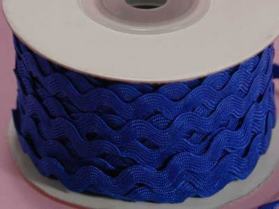 Royal Blue 10 mm Ric Rac Trim 25 Yards