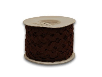 Brown 10 mm Ric Rac Trim 25 Yards