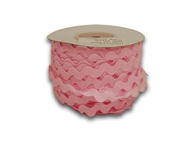 Light Pink 5 mm Ric Rac Trim 25 Yards
