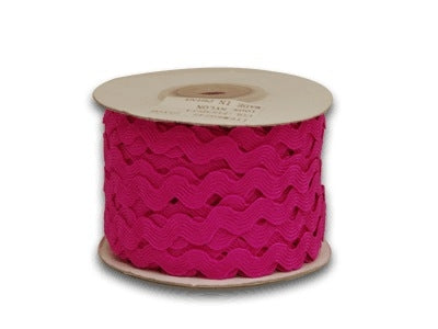 Fuchsia 5 mm Ric Rac Trim 25 Yards