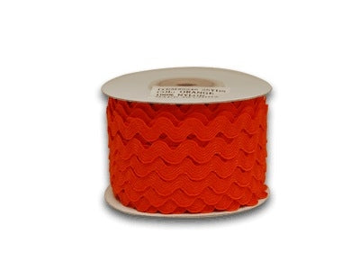 Orange 7 mm Ric Rac Trim 25 Yards