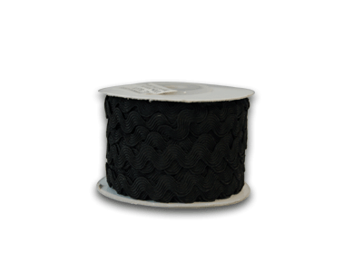 Black 7 mm Ric Rac Trim 25 Yards