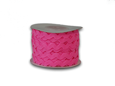 Shocking Pink 7 mm Ric Rac Trim 25 Yards