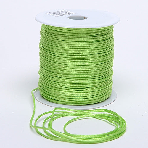 Apple Green 3 mm Rattail Satin Cord 100 Yards
