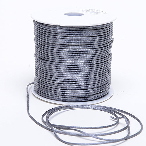 Silver 3 mm Rattail Satin Cord 100 Yards