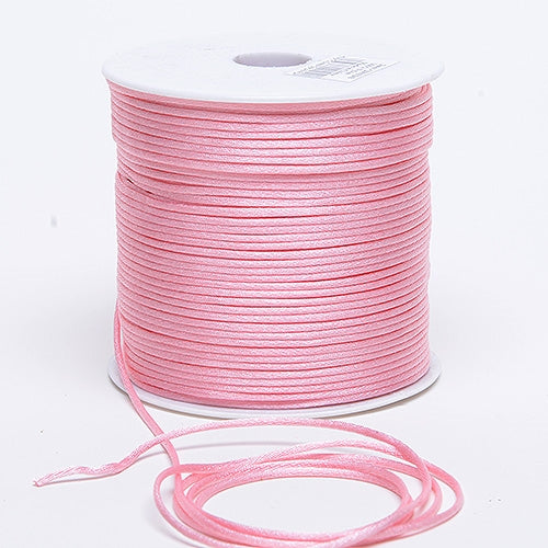 Pink 3 mm Rattail Satin Cord 100 Yards