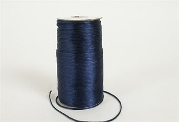 Navy Blue 3 mm Rattail Satin Cord 100 Yards