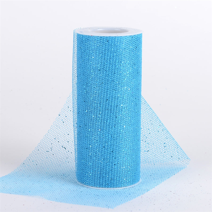 Turquoise Glitter Net 6x10 Yards