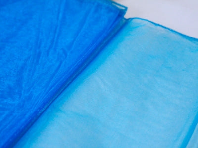 Turquoise Organza Overlay 28x216 Inch