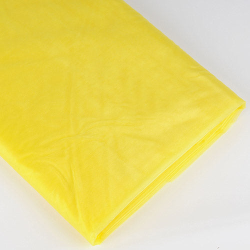 60 Inch x 25 Yd Yellow Organza Fabric