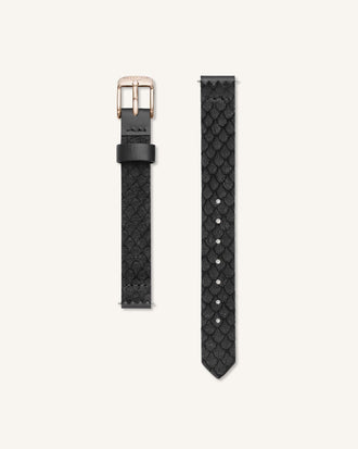 Black Rose gold Strap