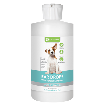 Ear Drops for Dogs and Cats. Help to Treat Infection, Relieve Fungal and Yeast Infections, and Mites with Natural Lavendar