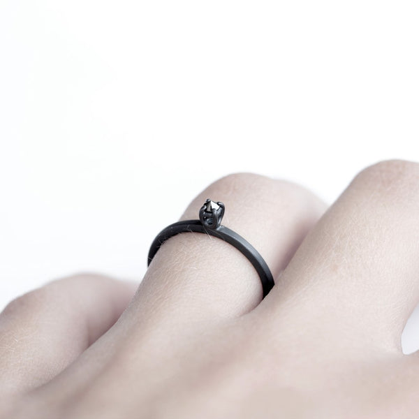 DIAMOND THORN RING - MIRTA jewelry