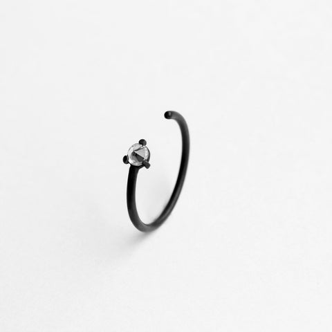 SINGLE THORN OXIDIZED RING