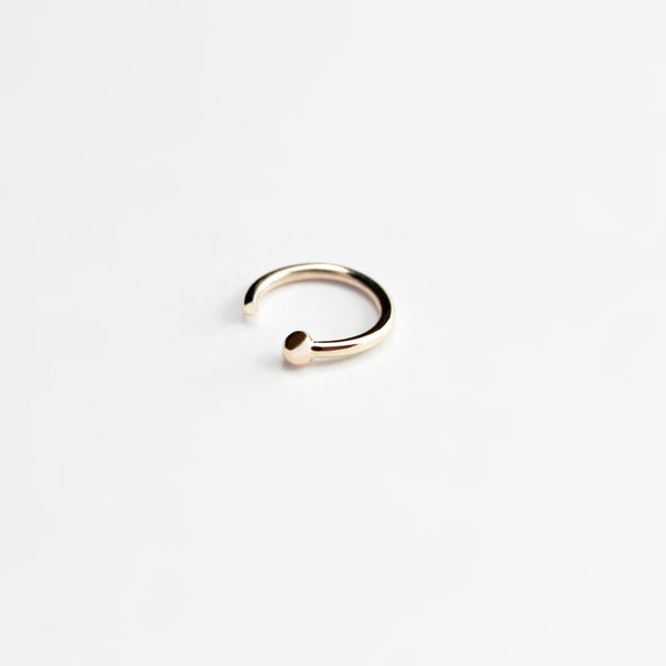 ESSENTIAL DOT GOLD HOOP EARRING - MIRTA jewelry