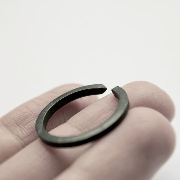 TWO CLOSE OXIDIZED RING - MIRTA jewelry