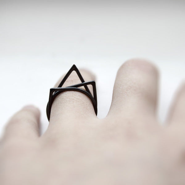 BLACK THORN RINGS - MIRTA jewelry