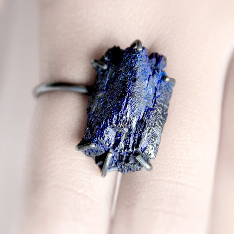 AZURITE ROCK RING
