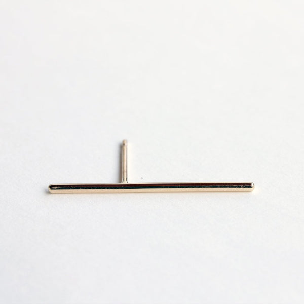 GOLD THIN LINE EARRING - MIRTA jewelry