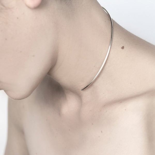 ESSENTIAL SILVER CHOKER NECKLACE