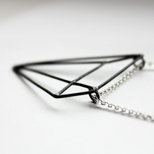 PYRAMID ILLUSION NECKLACE - MIRTA jewelry