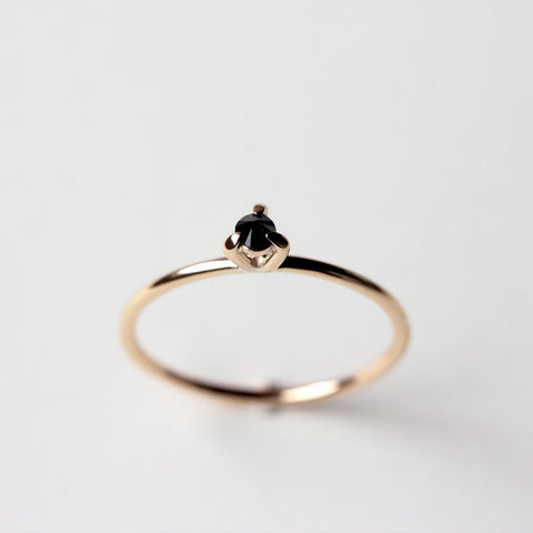 GOLD EYE 02 BLACK DIAMOND RING